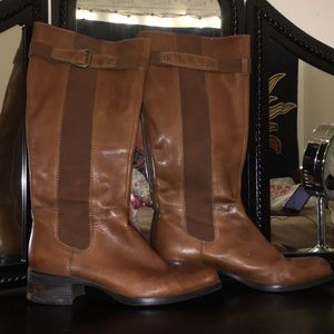 Franco Sarto knee High Flare Out Leather Boot